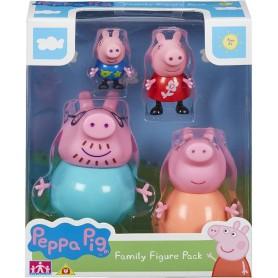 PEPPA PIG PACK 4 FIGURAS FAMILIA PIG