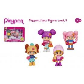 PINYPON - PACK 4 FIGURAS NIEVE