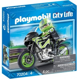 PLAYMOBIL - MOTO VERDE - CITY LIFE