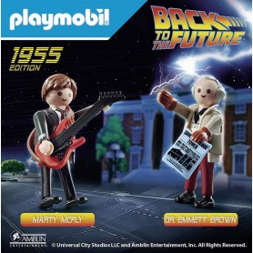 BACK TO THE FUTURE MARTY MCFLY Y DR. EMMETT BROWN