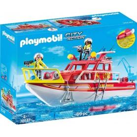PLAYMOBIL - BARCO DE BOMBEROS 70147