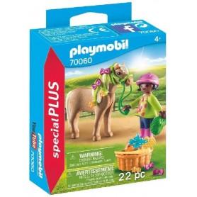 PLAYMOBIL SPECIAL PLUS - NIÑA CON PONI 70060