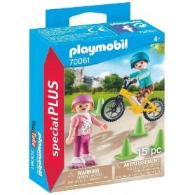 PLAYMOBIL SPECIAL PLUS - NIÑOS CON BICI Y PATINES 70061