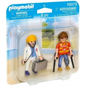 PLAYMOBIL - DUO PACK DOCTORA Y PACIENTE 70079