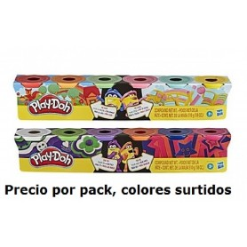 PLAY-DOH PACK 6 BOTES PLASTILINA (Colores surtidos)