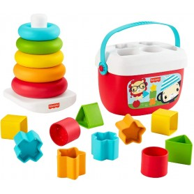 FISHER PRICE - PACK ECO PIRAMIDE Y BLOQUES