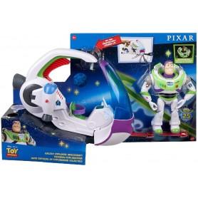Toy Story Buzz Lightyear con Nave Espacial de Explorador Galáctico