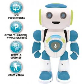 POWERMAN JR. ROBOT PROGRAMABLE CON QUIZ, MÚSICA Y