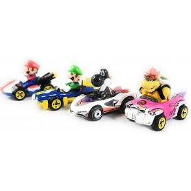 HOT WHEELS MARIOKART - PACK MARIO, LUIGI, BOWSER, BLACK YOSHI