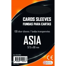 FUNDAS CARTAS ASIA (57,5 MM X 89 MM) (100 UDS)