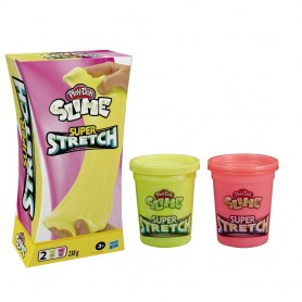 PLAY-DOH PACK 2 SUPERELASTICO SLIME AMARILLO ROSA