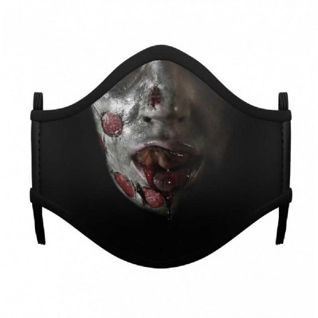 MASCARILLA ZOMBIE GIRL HALLOWEEN ADULTO