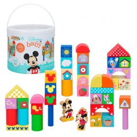 BOTE 40 BLOCKS MADERA MICKEY & MINNIE