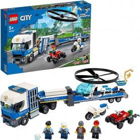 POLICÍA: CAMIÓN DE TRANSPORTE DEL HELICÓPTERO LEGO 60244