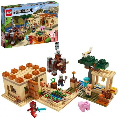 LA INVASIÓN DE LOS ILLAGER LEGO MINECRAFT 21160