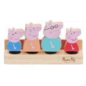 PACK 4 FIGURAS MADERA FAMILIA PIG