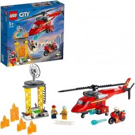 HELICÓPTERO DE RESCATE DE BOMBEROS LEGO CITY 60281