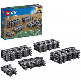 VIAS Y CURVAS LEGO CITY TRAINS 60205