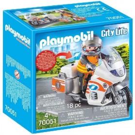 MOTO DE EMERGENCIAS 70051 PLAYMOBIL CITY LIFE