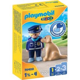 1.2.3 POLICIA CON PERRO - PLAYMOBIL 70408
