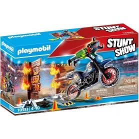 STUNTSHOW MOTO CON MURO DE FUEGO 70553
