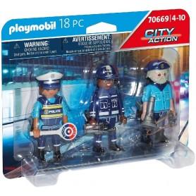 SET 3 FIGURAS POLICIA - PLAYMOBIL 70669