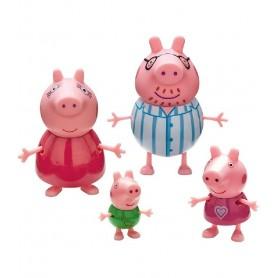 PEPPA PIG PACK 4 FIGURAS FAMILIA PIG - BANDAI