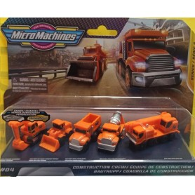 MICRO MACHINES WORLD PACK 5 VEHICULOS CONSTRUCCION