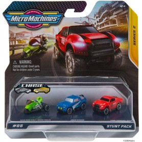 MICRO MACHINES PACK 3 VEHICULOS 05 STUNT PACK