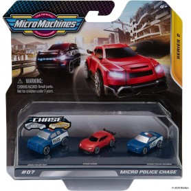 MICRO MACHINES PACK 3 VEHICULOS 07 MICRO POLICE CHASE