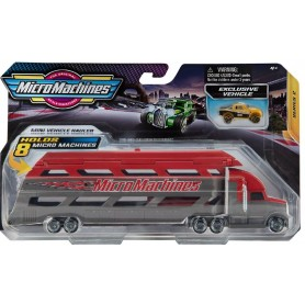 MICRO MACHINES MINI VEHICLE HAULER SERIES 2 RED
