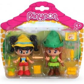PINYPON CUENTOS 2 FIGURAS - PINOCHO Y PETER PAN