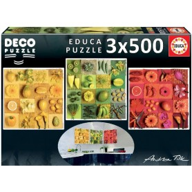 PUZZLE3X500 EXOTIC FRUITS AND FLOWERS,ANDREA TILK