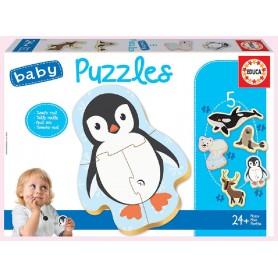5 BABY PUZZLES ANIMALES POLO NORTE