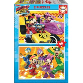 PUZZLE 2X48 MICKEY ROADSTER RACERS