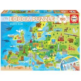 PUZZLE 150 PIEZAS MAPA EUROPA