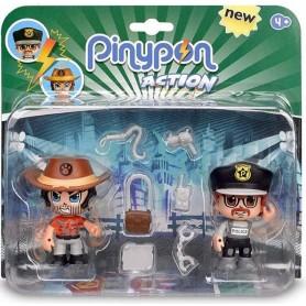 PINYPON ACTION DUO PACK POLICIA Y AVENTURERO