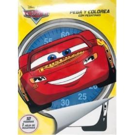 LIBRO PEGA Y PINTA CARS DISNEY