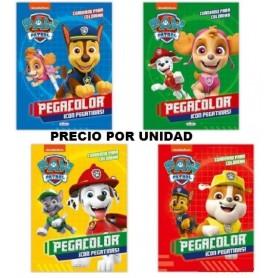LIBRO PEGA Y PINTA PAW PATROL PATRULLA CANINA