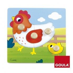 PUZZLE DE MADERA GALLINA GOULA